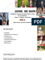 Síndrome de Down Seminário