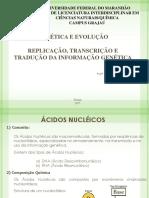 Replicação, Transcrição e Tradução Do Material Genético - Genetica e Evolucao
