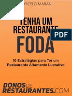 E-book - Tenha um Restaurante Foda - 10 Estratégias para ter um Restaurante Altamente Lucrativo