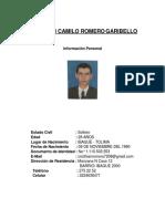 HOJA DE VIDA CRISTHIAN CAMILO ROMERO GARIBELLO1