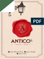 CARTA VIRTUAL ANTICO PASTA & PIZZA