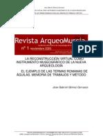 Gómez, J.G. Reconstrucción virtual como instrumento museográfico. 2003