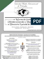 Informe de Gestion Iglesia Pentecostes Unida Internacional de Colombia 2010