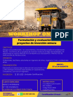 Brouchure Curso Formulación y Evaluación de Proyectos de Inversión Minera-27-29 Agosto.-1