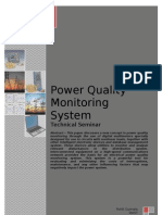 Power Quality Monitoring System With Page Cover
