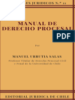 Manual de Derecho Procesal. Portada - Urrutia