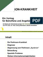 Patientenvortrag_Parkinsonkrankheit