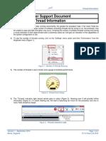 SUP0014 - CLISP Studio Thread Information