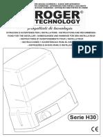 H30 Istruzioni e avvertenze IS23 Rev04 13-11-2014