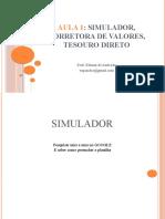 MERCADO FINANCEIRO E CENÁRIO ECONÔMICO Aula-1-TESOURO-DIRETO
