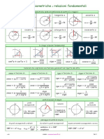 Funzioni Goniometriche Relazioni Fondamentali 1 0