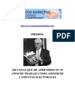 Las 100 cosas que he aprendido en 30 años trabajando como asesor de campañas electorales por Joseph Napolitan