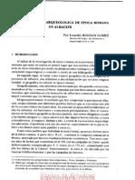 La investigación arqueológica romana en la provincia de Albacete
