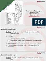 Aula 1 - Documentos Médicos Legais