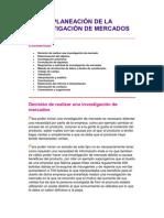 PLANEACIÓN DE LA INVESTIGACIÓN DE MERCADOS