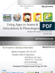 Articulation Apps for the iPhone, iPad and Itouch for Speech Therapists 2011