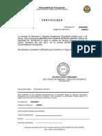 INFODA PDF Certificado