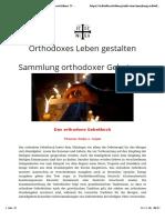 Sammlung Orthodoxer Gebete (1)