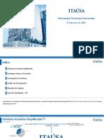 Informações Trimestrais Selecionadas 4T20 - Português