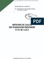 Bc 2.33.2 Regles de Calcul Des Fondations Profondes