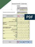 Cálculo de Planes dietoterapéuticos con Lista de Intercambios