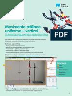 Exploração do movimento retilíneo uniforme vertical (pdf)