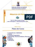 Máquinas de Fluxo - Aula 01 - Plano de Curso