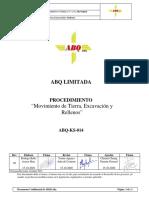 ABQ-KS-014 - Movimiento de Tierra, Excavación y Rellenos Rev. 00