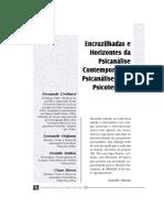 Encruzilhadas e Horizontes da Psicanálise Contemporânea Psicanálise