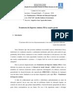 Transtorno do Espectro Autista - Noções gerais (Augusto César Ap dos Santos, Letras, 4o sem)