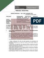RESOLUCIÓN N° 421- 2021-SUNARP-TR-L