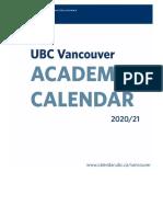 UBC Vancouver Calendar Faculty Graduate and Postdoctoral Studies
