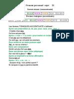 Pronom Personnel Sujet- Lecon
