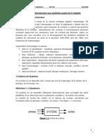Chapitre I Introduction aux systèmes asservis