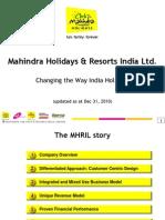 Investor Presentation MHRIL Qtr 3 FY11
