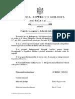 Hotărâre de guvern Cu privire la propunerea declarării stării de urgenţă