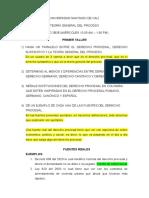 1° TALLER DE TEORÍA GENERAL DEL PROCESO - RESPUESTAS