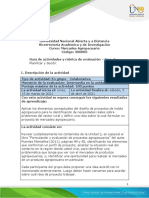 Guia de actividades y Rubrica de evaluación - Unidad 2 - Fase 3 - Planificar y decidir