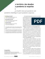 Saúde urbana e território dos desafios pré e durante a pandemia às respostas pós-pandemia