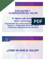 Evaluacion y Clasificacion Del Dolor Dr. Miguel Lujan Estrada