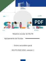 SELFIE - Exemplo de relatorio do Ens. Secundário