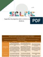 SELFIE - Lista de Questões sobre Ensino e Aprendizagem Remota