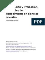 Explicación y Predicción. La Validez Del Conocimiento en Ciencias Sociales. Félix Gustavo Schuster1.PDF