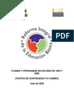 Comparativo Plan 1993 y RIEB 2009[1]