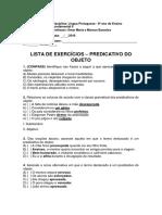 Lista de Exercícios - Predicativo Do Objeto (1)