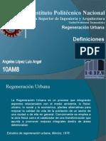 Deficiones Regeneracion Urbana