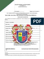 FICHA DE INSCRIPCION BECAS  2021