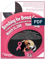Benching Breast Cancer Flyer
