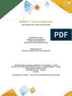 Unidad 2 - Tarea 3 -Estructura del Trabajo a Entregar