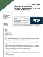 [ABNT] NBR13994 - Elevadores